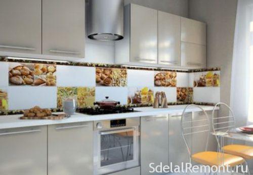 плитка с рисунком на кухню