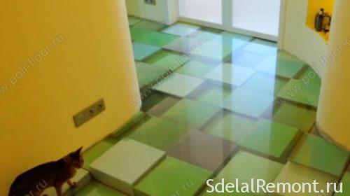 3D self-leveling floor