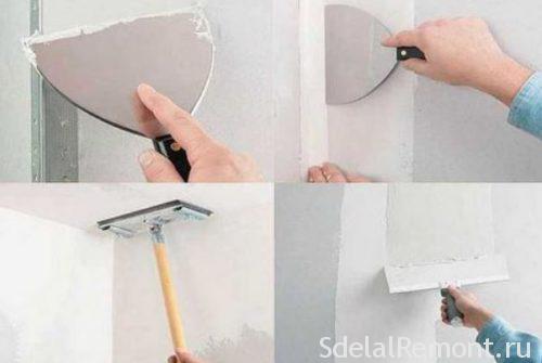 как подготовить гипсокартон к покраске