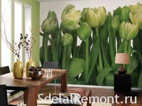 Фотообои тюльпаны фото