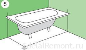 Как сделать экран под ванну из гипсокартона 5 этап