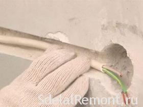 How to make the installation of hidden wiring under plaster ... Hidden Wiring on