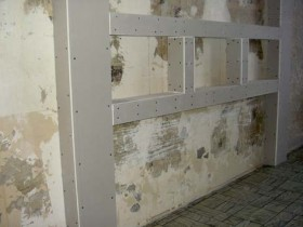 Shelves and niches plasterboard