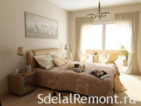 Оформление спальной комнаты, фото интерьера спальни