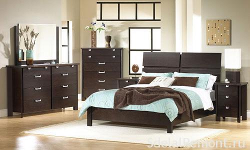 Оформление спальной комнаты мебелью фото