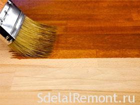 Окраска деревянных полов своими руками