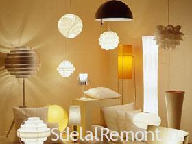 Освещение в интерьере, подбор ламп для комнат фото