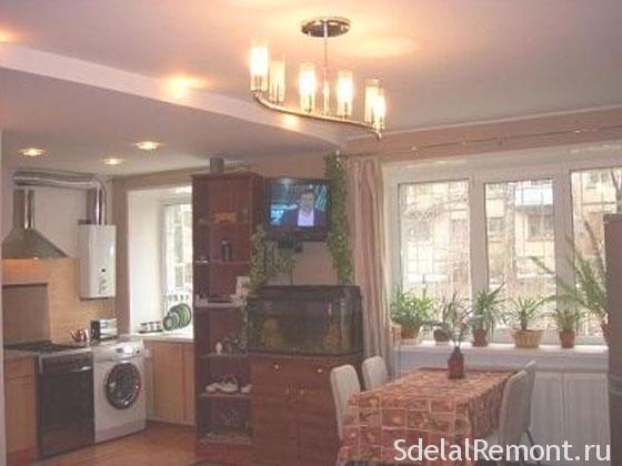 Перепланировка кухни в квартире фото. Кухня гостиная