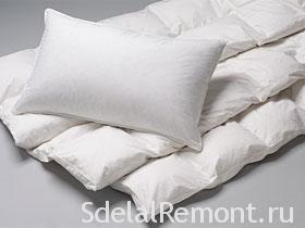 Подбор подушек и одеяла для спальни