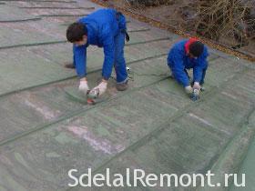 Подготовка к покраске крыши фото