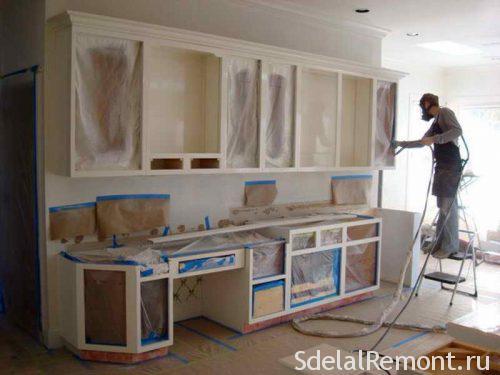 покрасить шкаф кухни