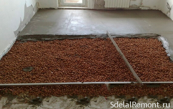 expanded clay floor screed