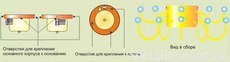 Схема крепления люстры к потолку фото