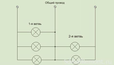 Схема подключения люстры к проводам фото
