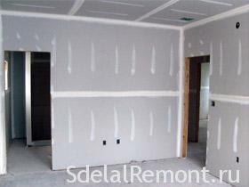 Выравнивание стен гипсокартоном фото, как выровнять стены гипсокартоном своими руками, технология выравнивания стен гипсокартонными листами