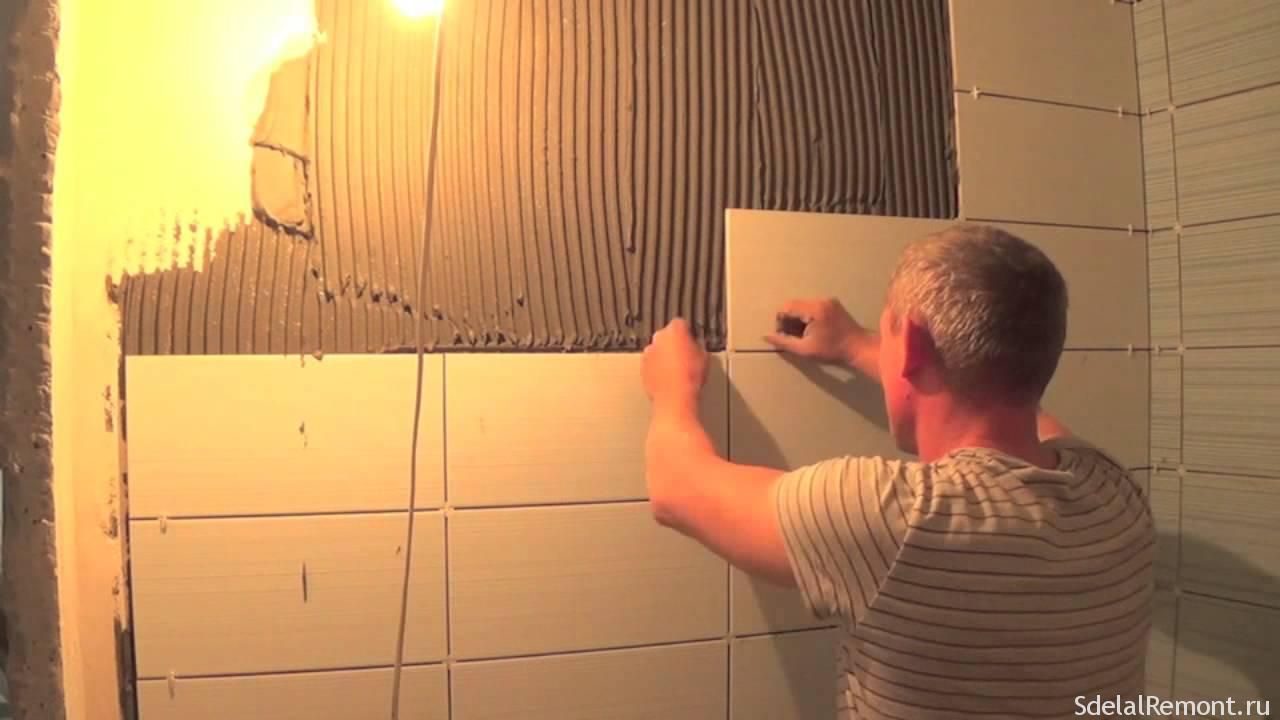 Кладем плитку в ванной своими руками: пошаговая инструкция 67