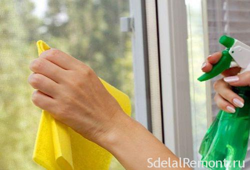 Чим чистити пластикові вікна і підвіконня.