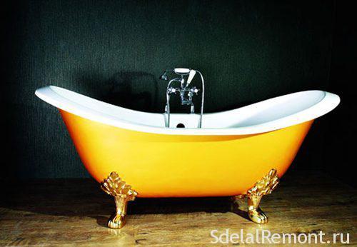 How to clean a cast-iron bath