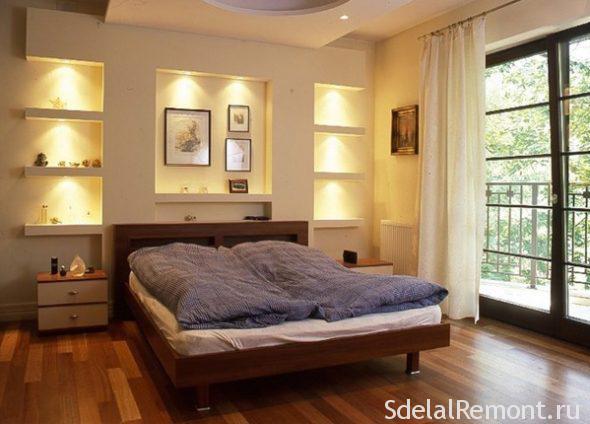 спальня с нишами