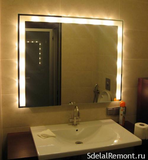 Подключение зеркала к электричеству в ванной подключение электричества с нуля дома