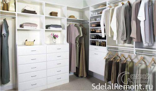 Штанги в несколько уровней для одежды разной длины