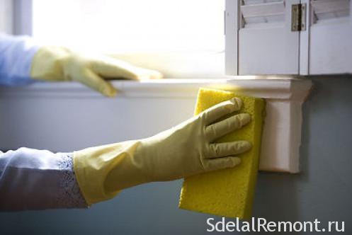 Чем отмыть плитку от грунтовки