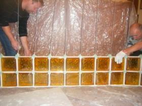 Кладка блоков с армированием