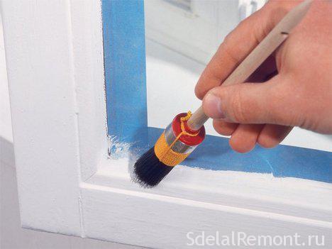 Покрасить пластиковые окна