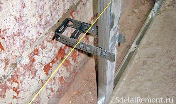 Как установить гипсокартон на стены  видео