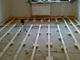 Конструкція лаг для підлоги