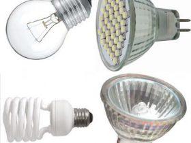 виды ламп для освещения помещений