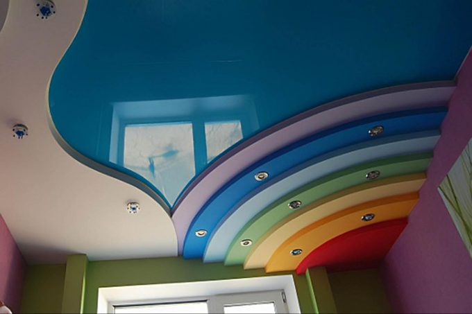 multicolored ceiling