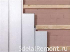 Монтаж пластиковых панелей на стену или потолок фото