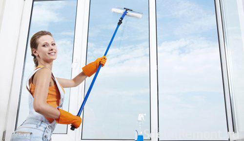 Мытье пластиковых окон в домашних условиях