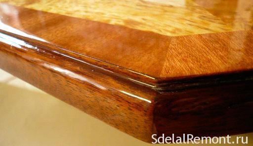 лакировка стола