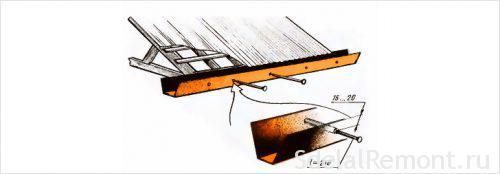 Самодельный отлив из стали