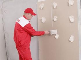 gluing drywall