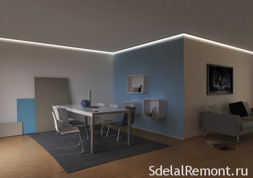 Ceiling Lights With Led Tapes Advantages Installation Methods