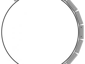 Production of semicircular design elements