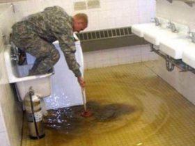 Вода в ванной