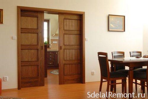 Раздвижные межкомнатные двери скрытые в стене