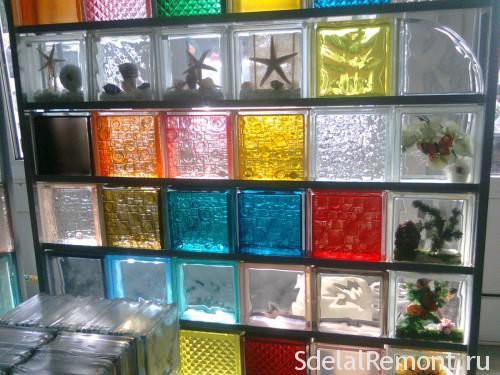 Виды стеклоблоков