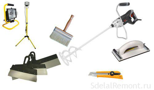Tool for plastered walls