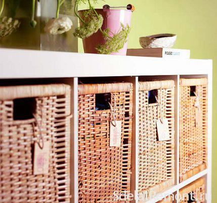 Baskets and boxes for clothes