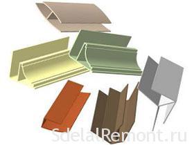 Стыковочные профиля (молдинги) фото. Пластиковые панели