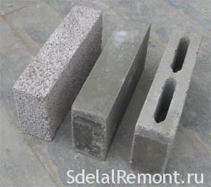 Виды блоков для перегородок