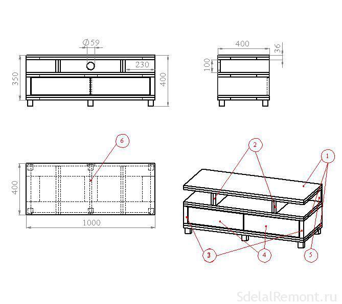 Как сделать стол под мойку для кухни