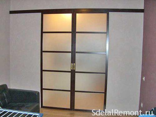 • Монтаж раздвижных дверей