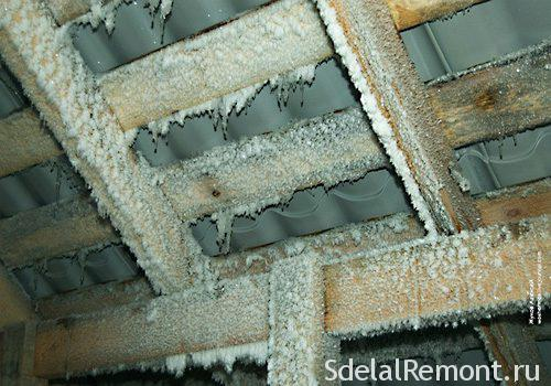 condensation on the roof