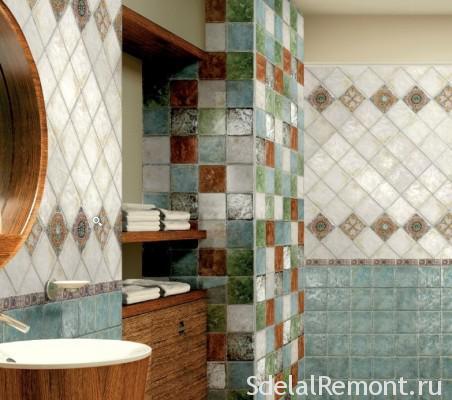 Варіанти укладання плитки у ванній